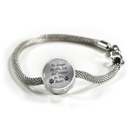 Custom Engraved Silver Bracelt