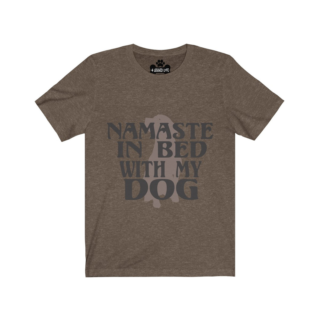 Namaste in Bed with my Dog Premium Tee