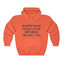 Happiness Starts With A Wet Nose And Ends With A Tail Unisex Heavy Blend™ Hooded Sweatshirt