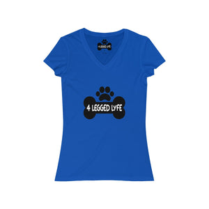 4 Legged Lyfe Logo Women's V-Neck Tee