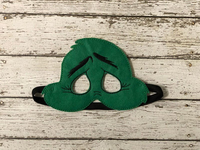 Grinch Inspired Felt Mask - 805 Masks