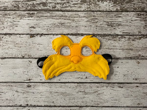Lorax Inspired Felt Mask - 805-masks