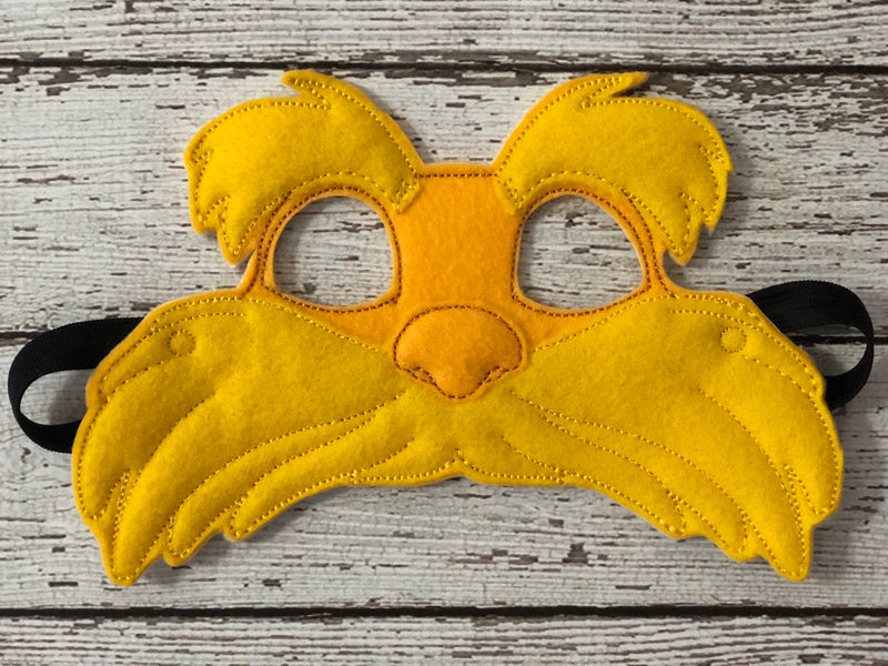 Lorax Inspired Felt Mask - 805 Masks