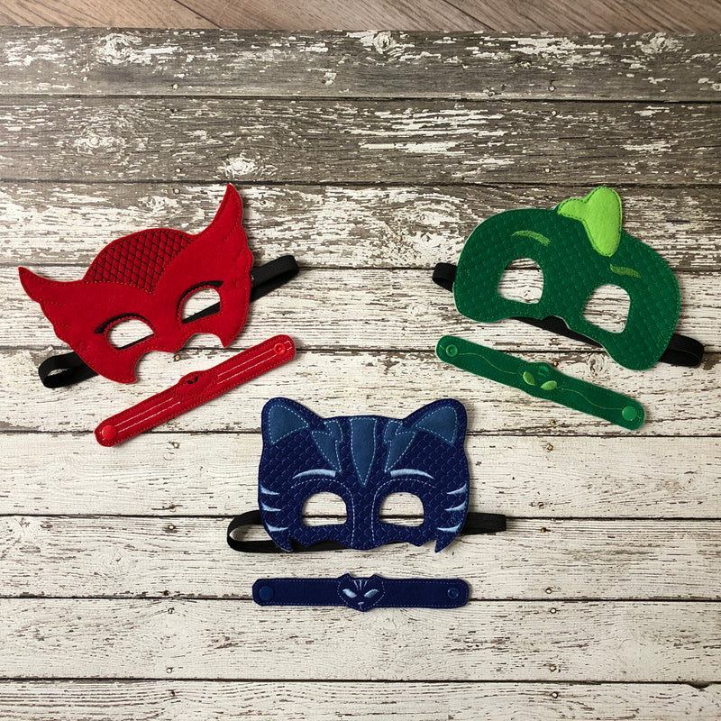 PJ Masks Inspired Felt Masks - 805-masks