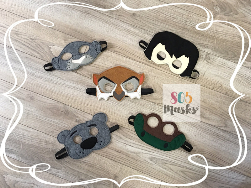 Jungle Book Inspired Felt Masks - 805-masks