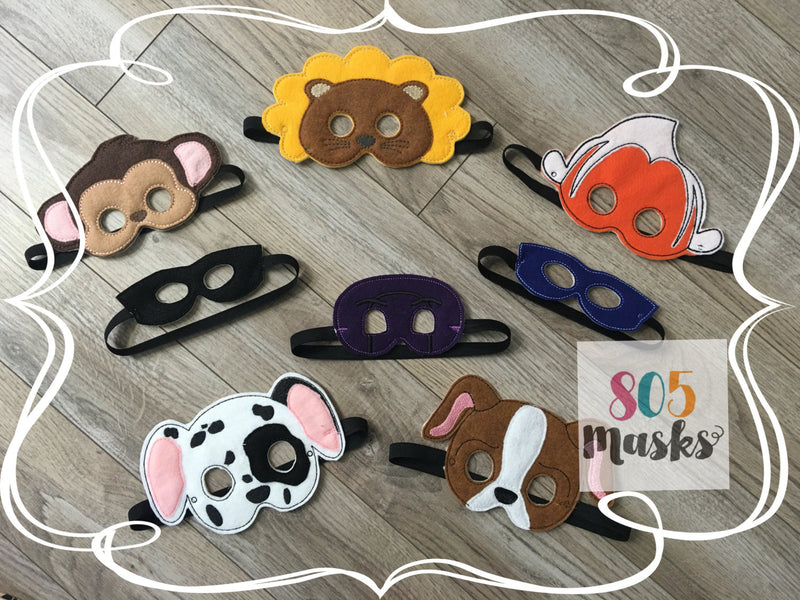 Baby Infant Felt Masks - 805 Masks