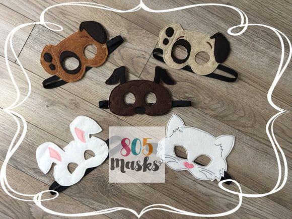 Pet Animal Felt Masks - 805-masks