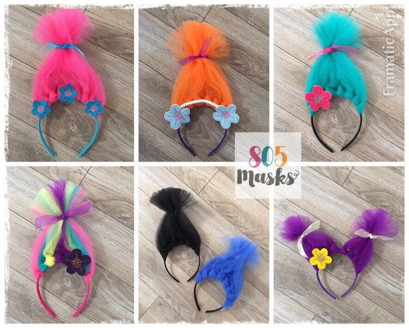 Trolls Headbands - 805 Masks