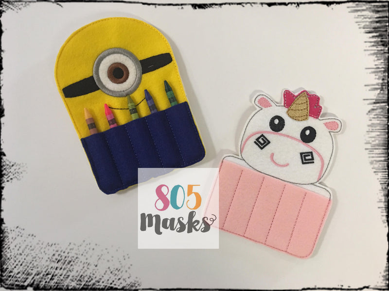 Despicable Me inspired Crayon Holders - 805-masks