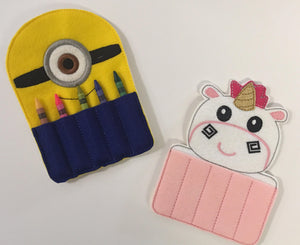 Despicable Me inspired Crayon Holders - 805 Masks