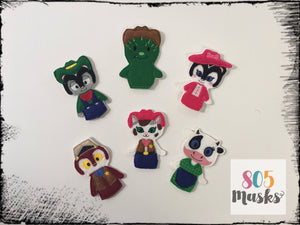 Sheriff Callie Inspired Felt Finger Puppets - 805 Masks