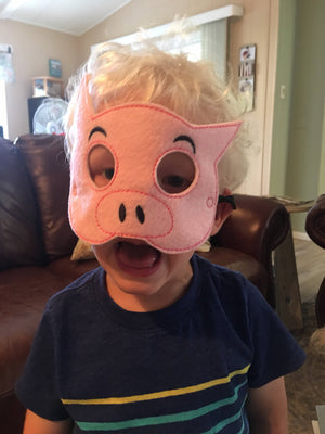 Elephant and Piggie Felt Masks - 805 Masks