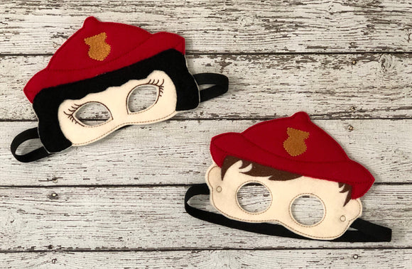 Firefighter Felt  Masks - 805-masks