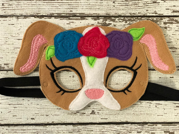 Girl Dog Felt Masks - 805-masks