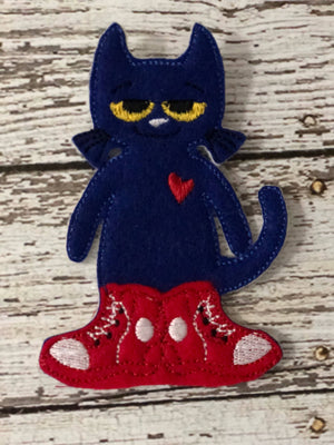 Pete the Cat Inspired Felt Finger Puppets - 805 Masks