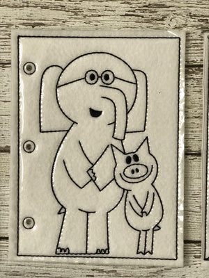 Elephant and Piggie Inspired Coloring Pages - 805 Masks