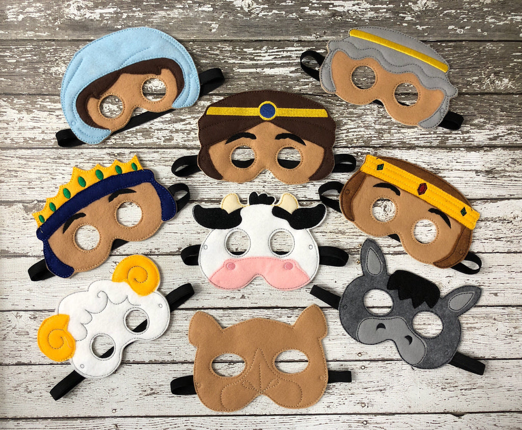 Christmas Nativity Felt Masks - 805-masks