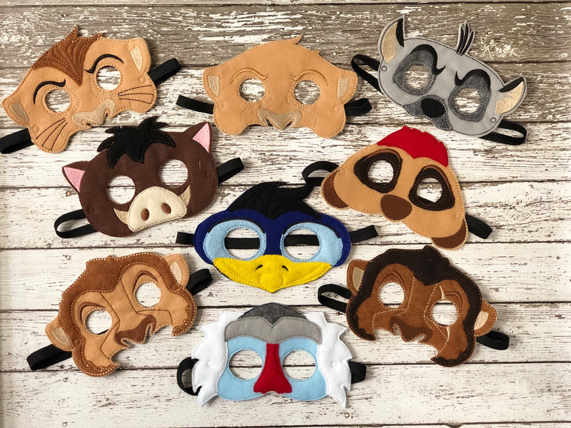 Lion King Inspired Felt Masks - 805-masks