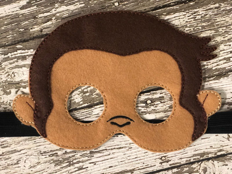 Curious George Inspired Felt Mask - 805 Masks