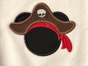 Girls Mickey Mouse Inspired Pirate Costume - 805-masks