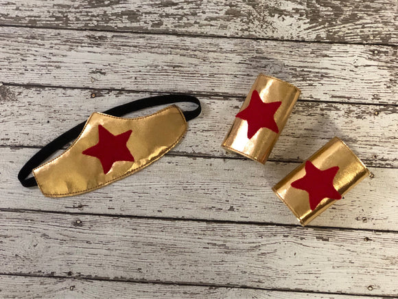 Wonder Woman Headband and Cuffs - 805-masks