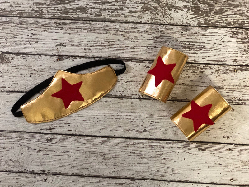 Wonder Woman Headband and Cuffs - 805 Masks
