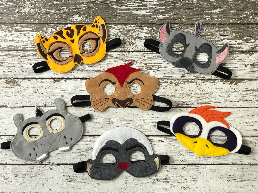 Lion Guard Inspired Felt Masks - 805 Masks