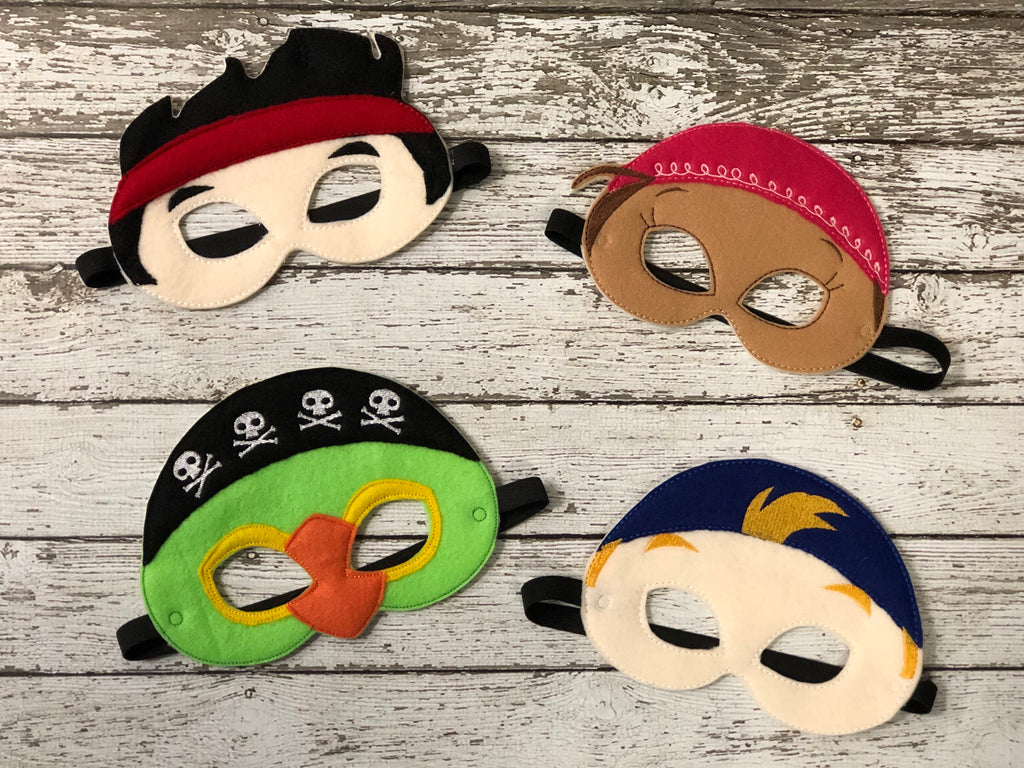 Jake The Never Land Pirate Inspired Felt Masks - 805 Masks