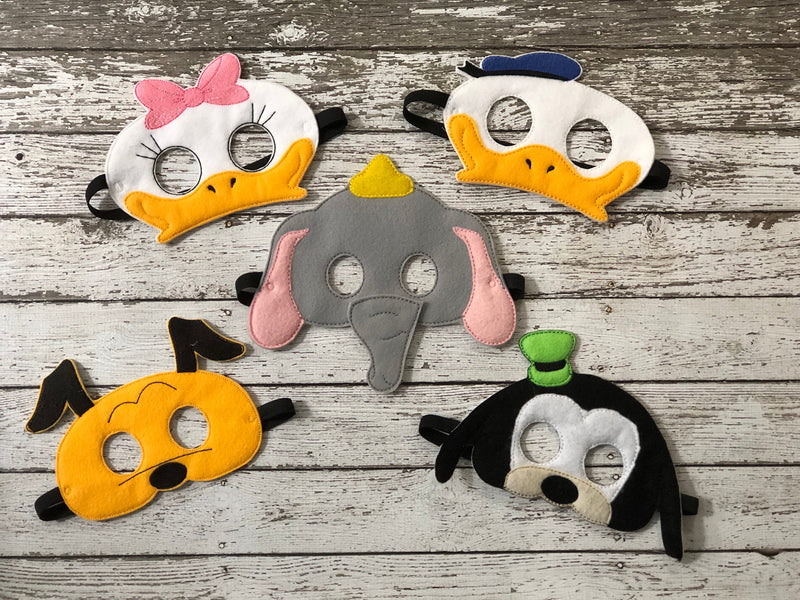 Disney Inspired Masks Donald Duck Daisy Goofy Pluto Dumbo - 805-masks