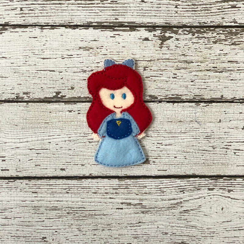 Little Mermaid Inspired Felt Finger Puppets - 805-masks
