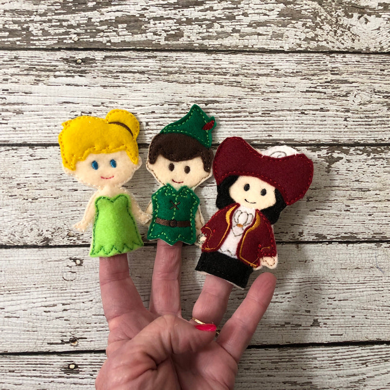 Peter Pan Inspired Felt Finger Puppets - 805-masks