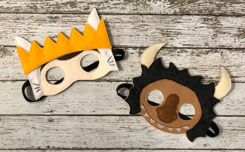 Where the Wild Things Are Inspired Felt Masks - 805-masks