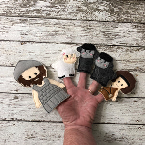 David and Goliath Felt Finger Puppets - 805 Masks