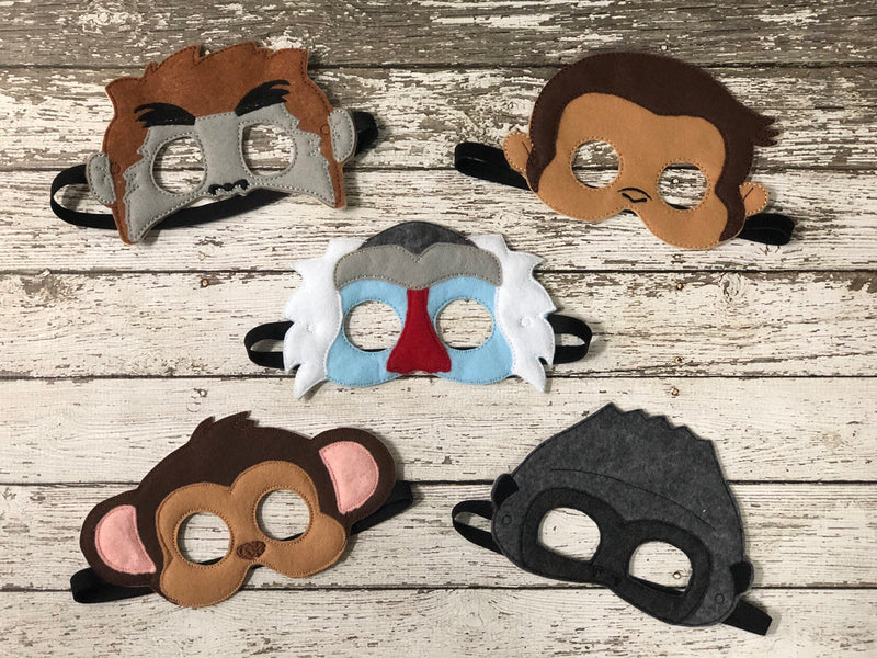 Monkey Felt Masks - 805-masks