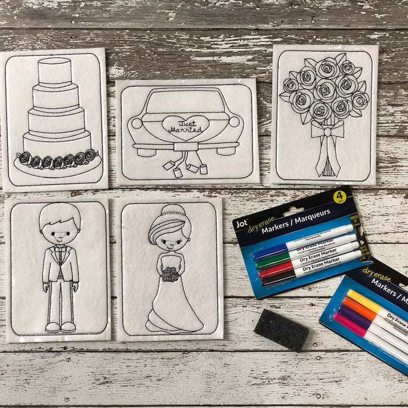 Wedding Kids Table Coloring Pages - 805 Masks
