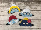 Smurfs Inspired Felt Masks