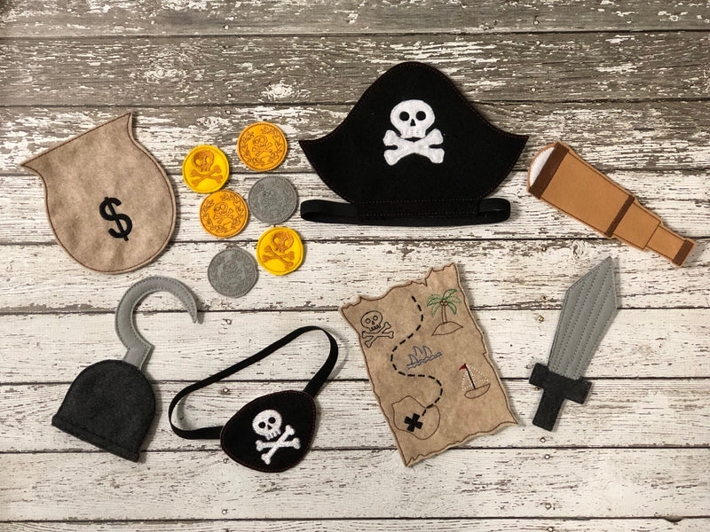 Pirate Felt Play Set - 805 Masks