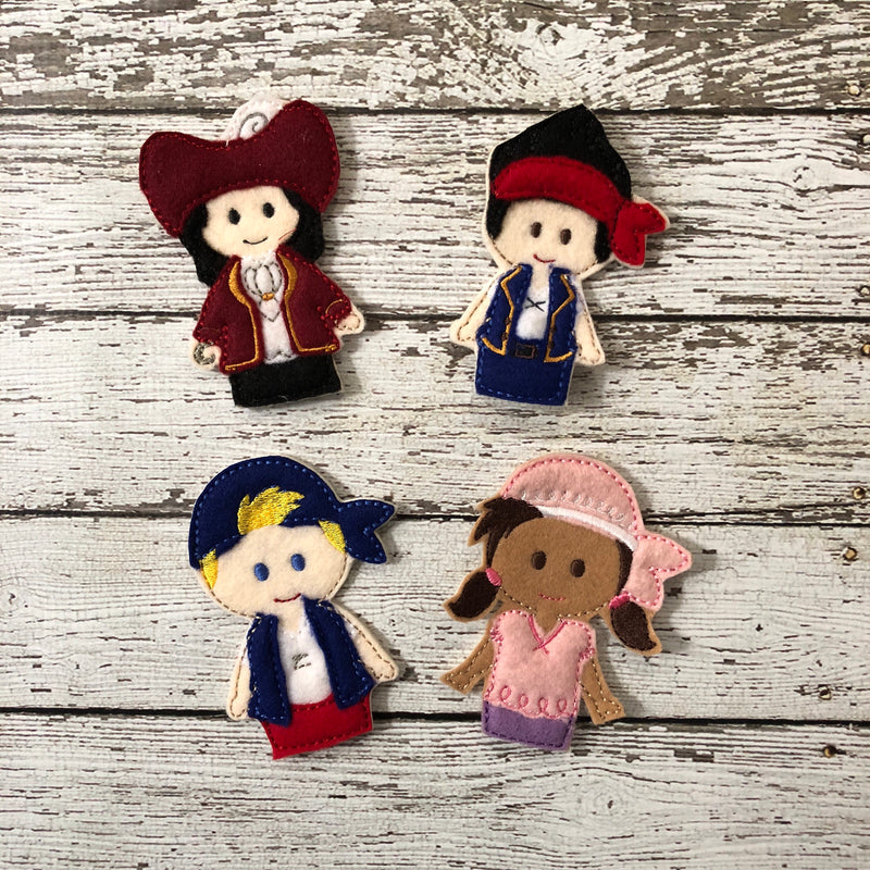 Jake and the Neverland Pirates Inspired Felt Finger Puppets - 805 Masks
