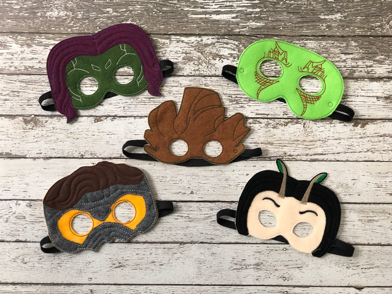 Galaxy Guardians Inspired Felt Masks - 805 Masks