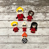 Incredibles Inspired Felt Finger Puppets - 805-masks