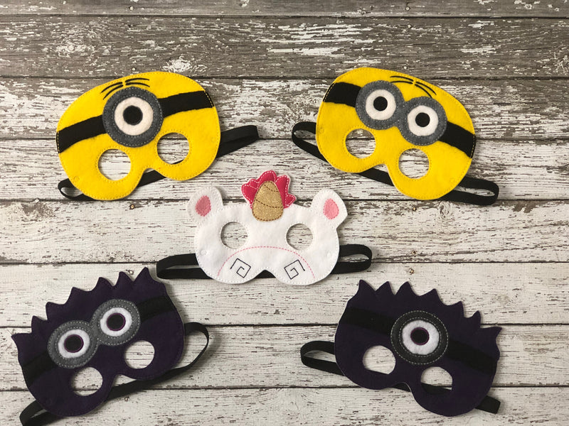 Minion Inspired Felt Masks - 805 Masks