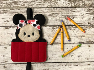 Mickey and Minnie Inspired Felt Crayon Holders - 805 Masks