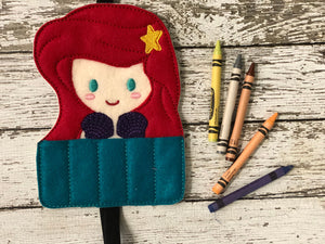 Little Mermaid Inspired Crayon Holder - 805 Masks
