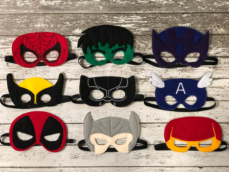 Marvel Super Hero Inspired Felt Masks - 805-masks