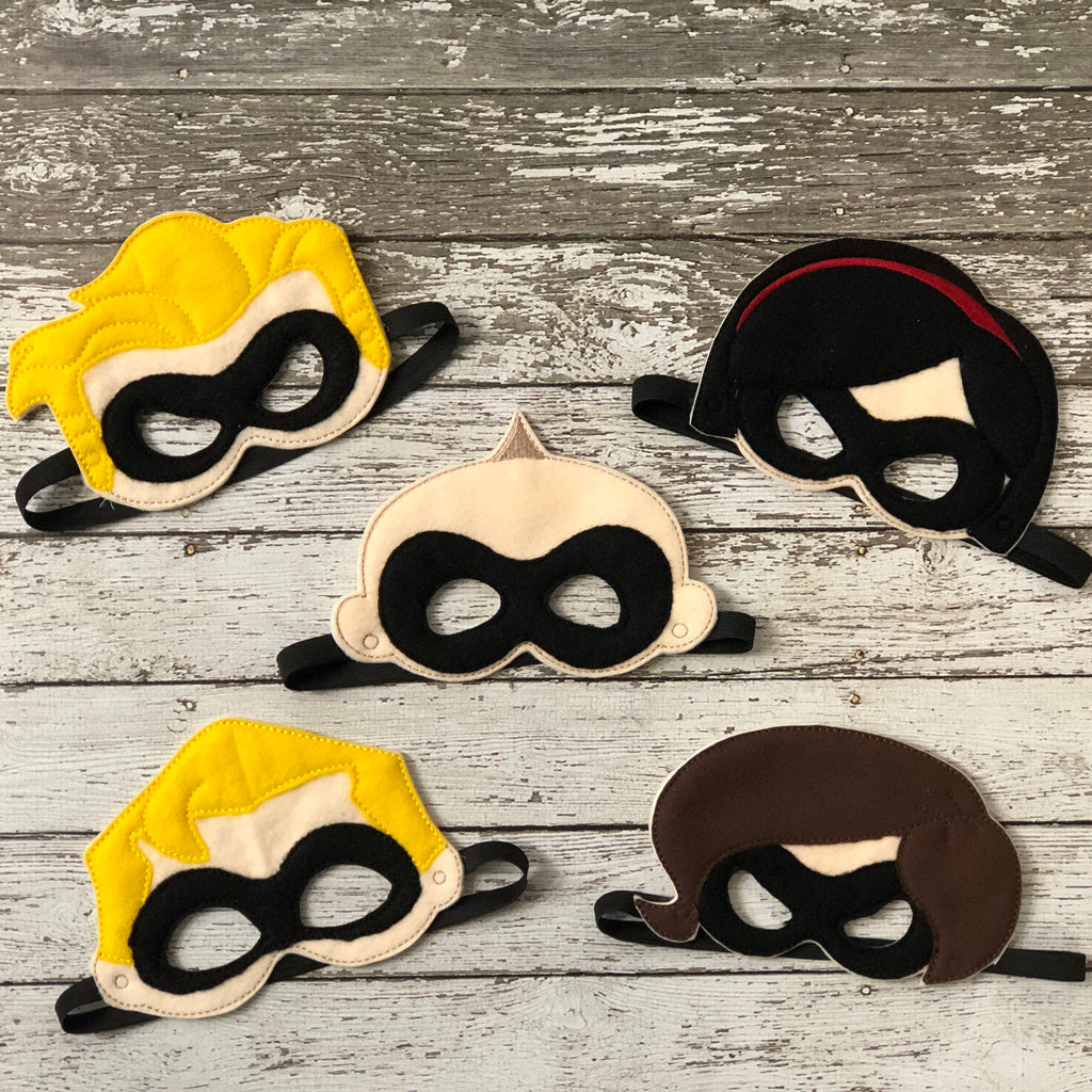Incredibles Felt  Masks - 805 Masks