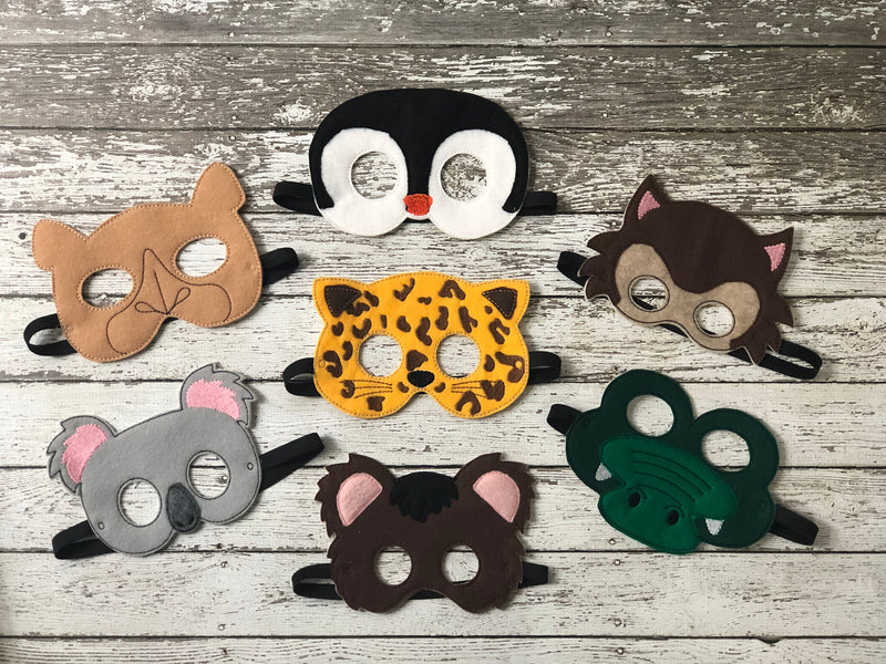 Zoo Animal Felt Masks - 805 Masks