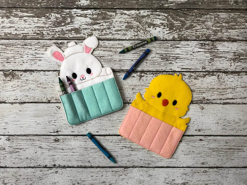 Easter Bunny and Chick Crayon Holders - 805-masks