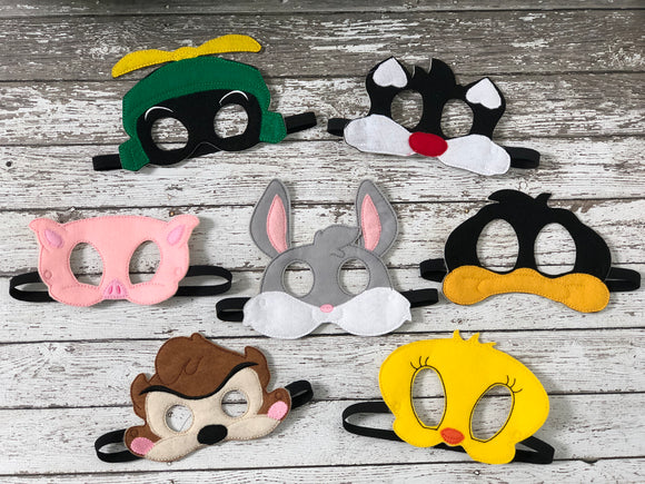 Looney Tunes Inspired Felt Masks - 805-masks