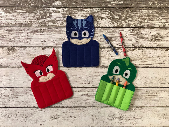 PJ Mask Inspired Crayon Holders