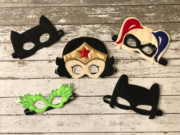 Woman Super Hero Felt Masks - 805-masks